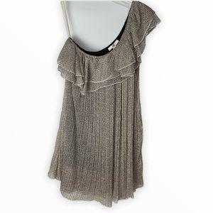 Ya Los Angeles One Shoulder Pleated Short Dress